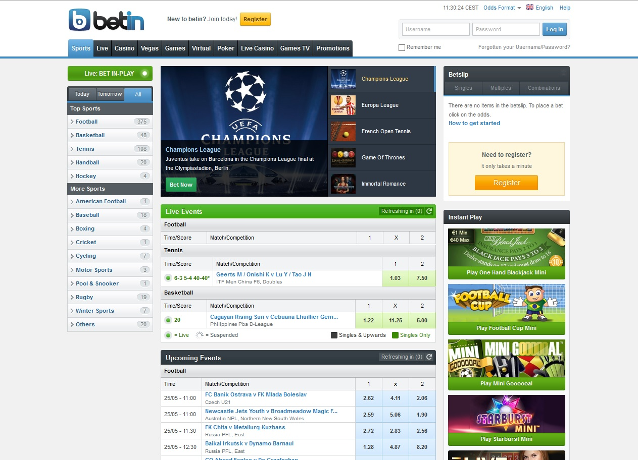 betin sports betting