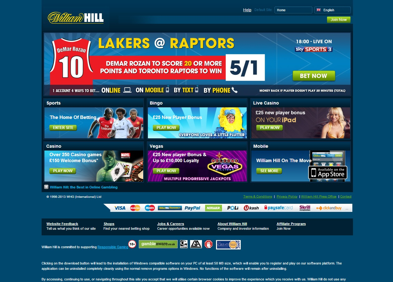 William Hill Internet